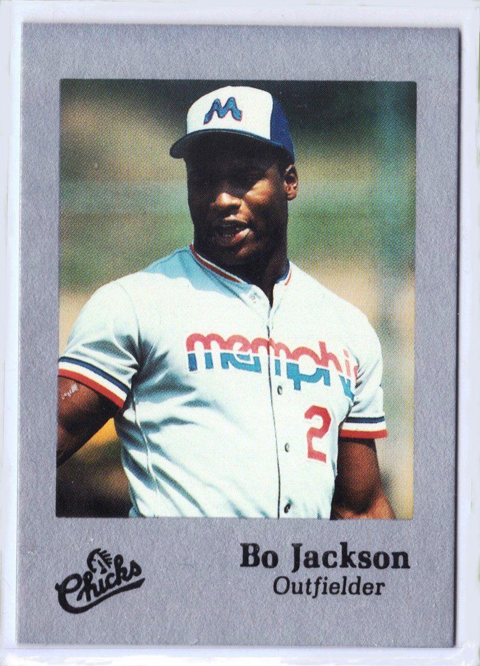 1986 bo jackson rare early minors rookie card memphis