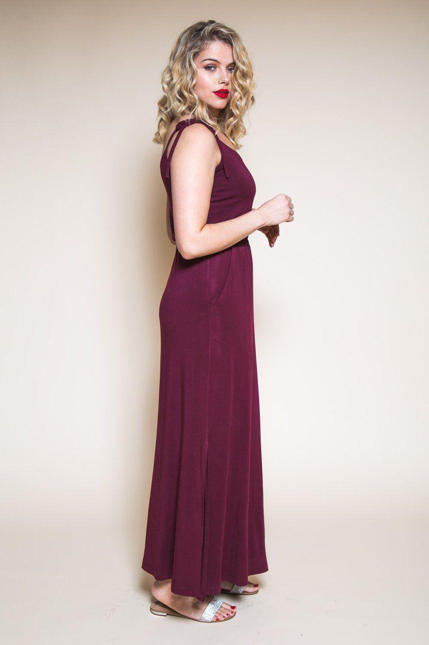 Sallie maxidress u jumpsuit pattern sewing patterns dress sewing