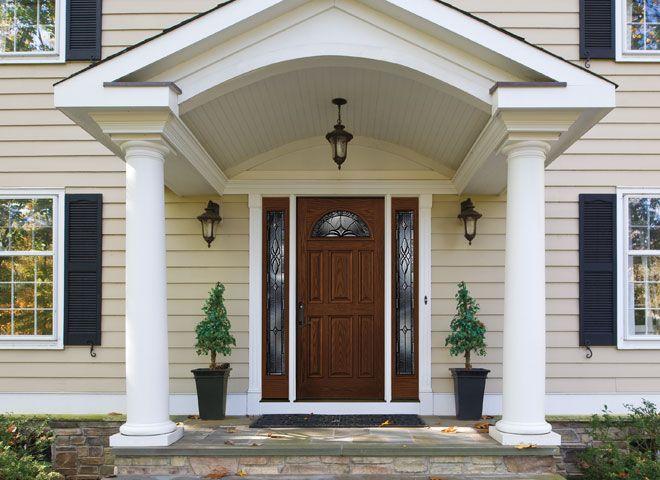 Pella Architect Series Entry Doors Fiberglass Doors Pella Com Portico Design Front Porch Design Porch Design