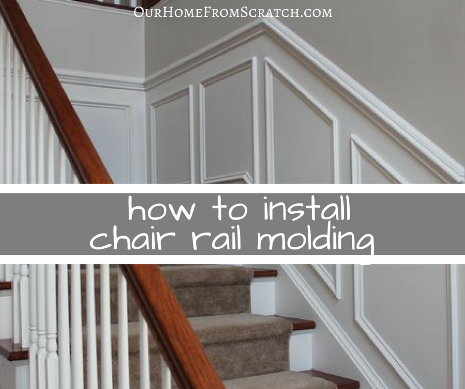 Chair Rail Handrail Part - 38: Video Tutorial On Installing DIY Chair Rail Molding -- Add Value To Your  Home