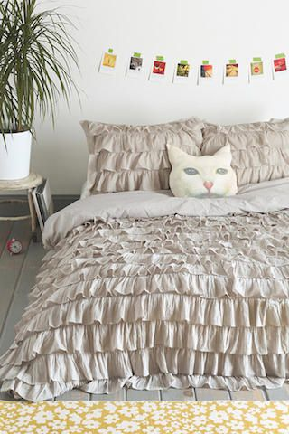 Found By A Woman » Waterfall Ruffle Duvet Cover