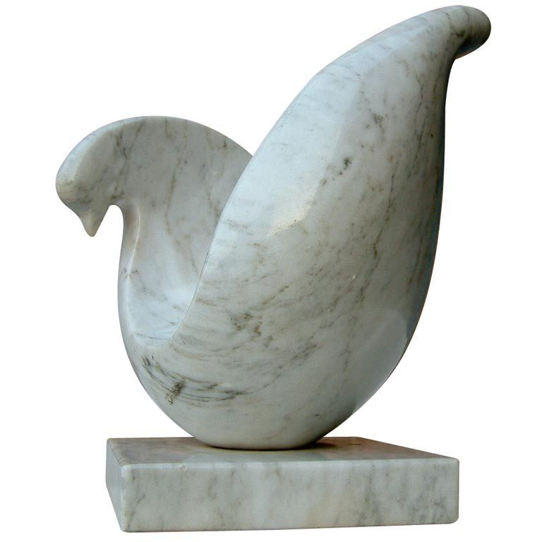 Stylized marble dove sculpture marbles unique and modern
