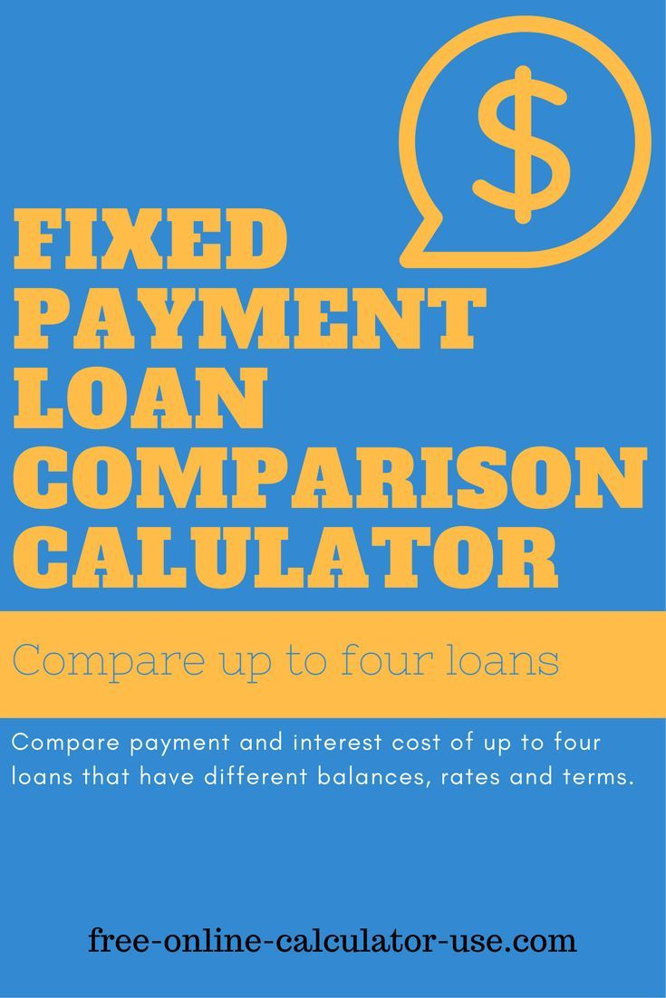 fixed payment loan comparison calculator  simplifies the