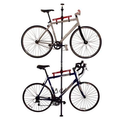 Platinum Series Floor To Ceiling Tension Mount Bike Rack For 2 Bikes Armazenamento De Bicicletas Bicicletas
