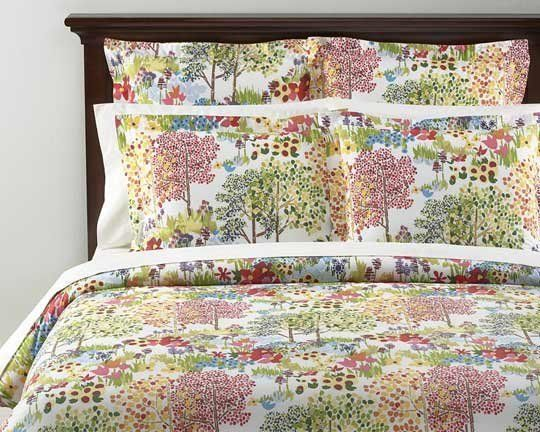 Pottery Barnu0027s Woodland Organic Duvet Cover Awesome Design