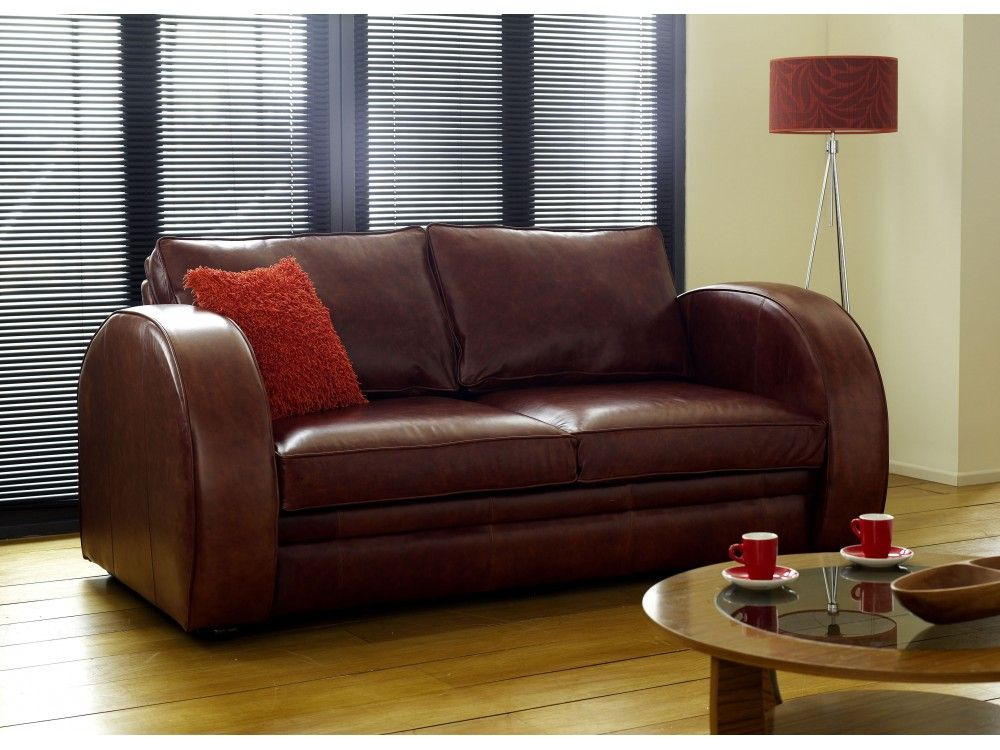 sofa bed leather collection art deco leather sofa bed the astoria is a classic british retro sofa