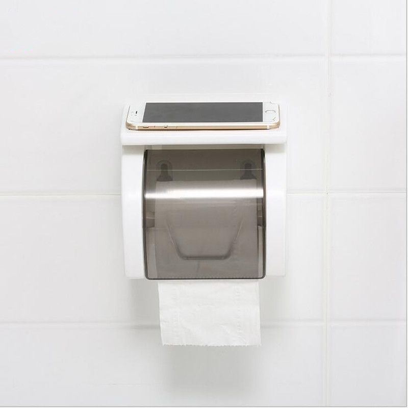 Waterproof Durable With Cover Toilet Paper Holders Wall Mounted