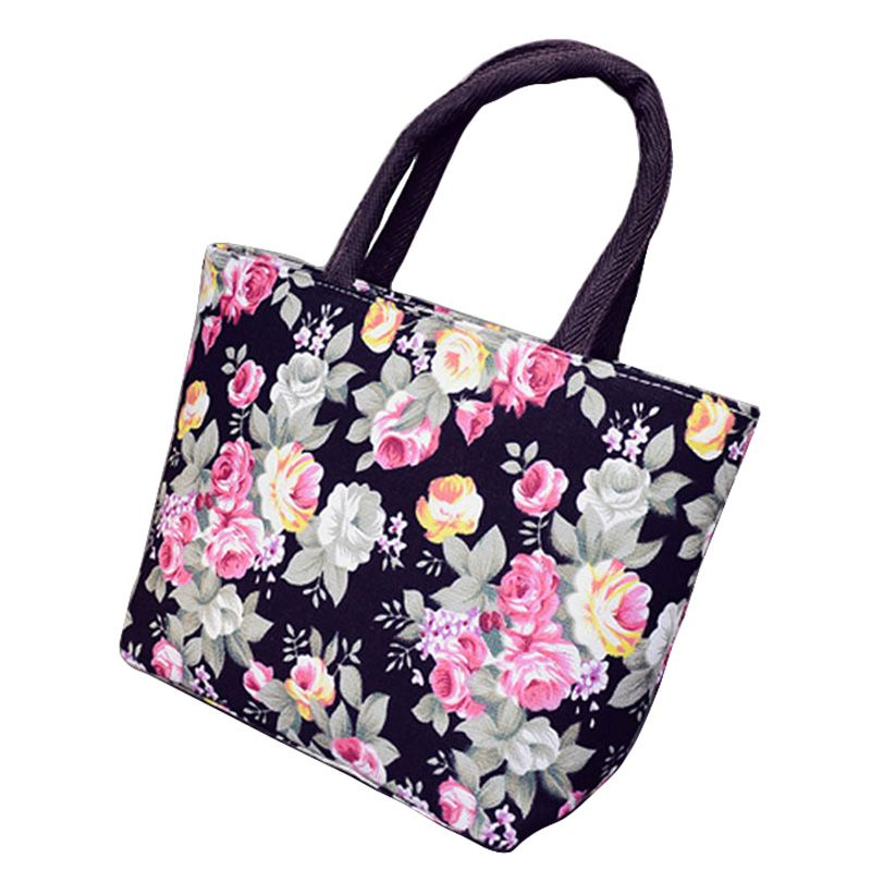 Ladies Patterned Check Floral Tote Bag Women Handbag Fashion Shoulder Bag