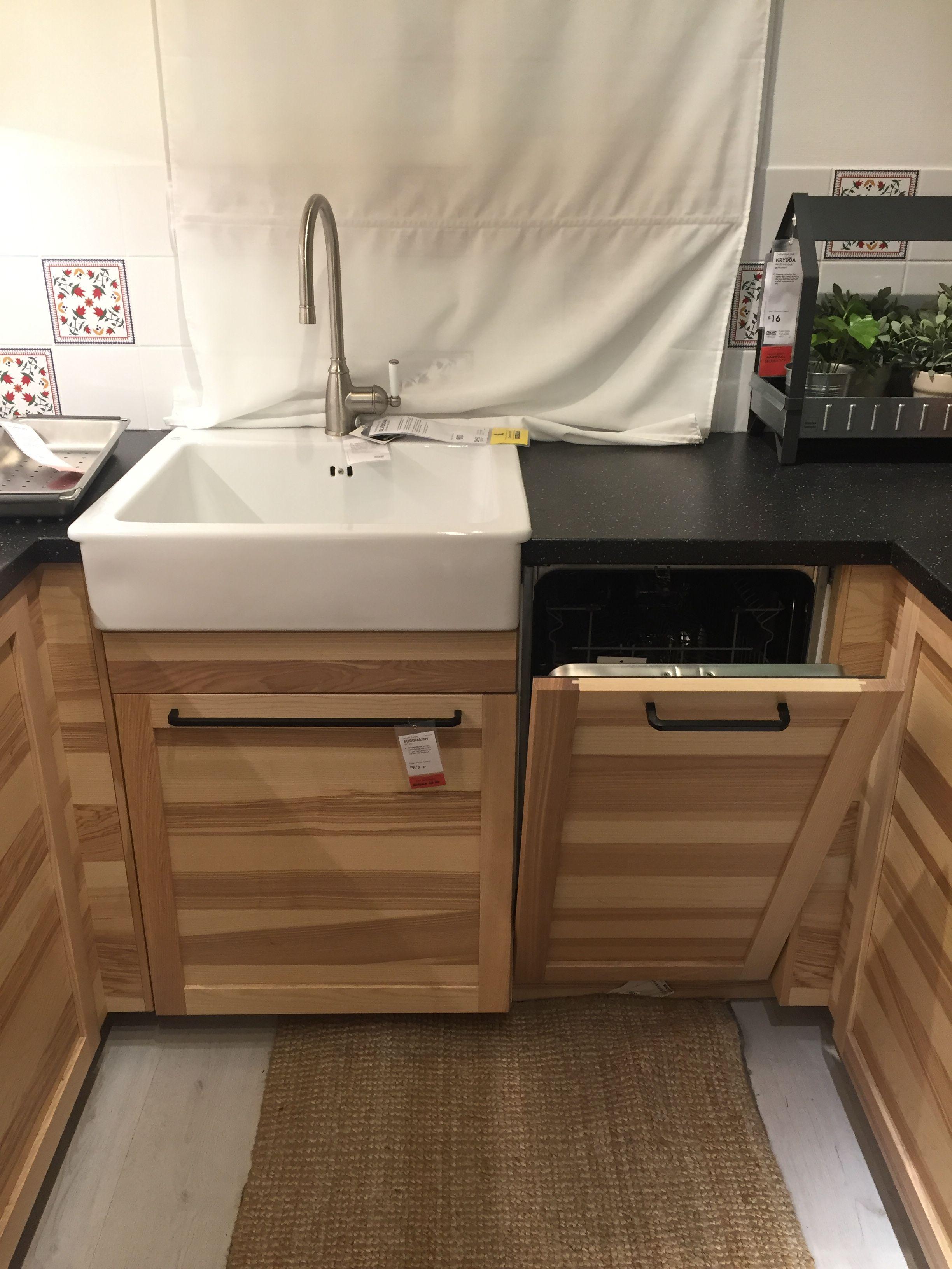 DOMSJÖ Onset Sink, 1 Bowl White 62x66 Cm   IKEA