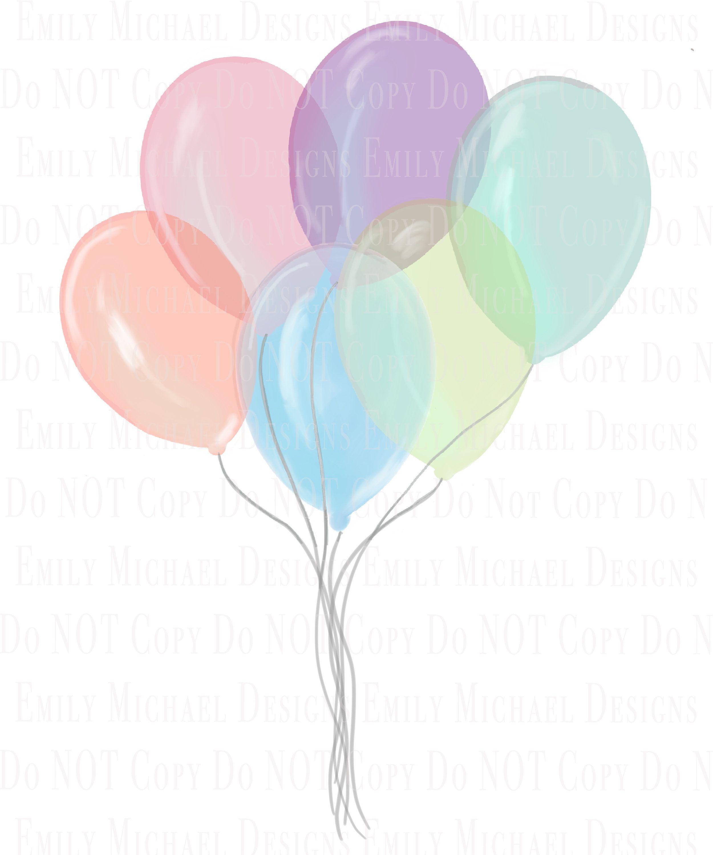 Balloons Digital Download Image Png Pastel Balloons Etsy In 2021 Pastel Balloons Balloons Balloon Art