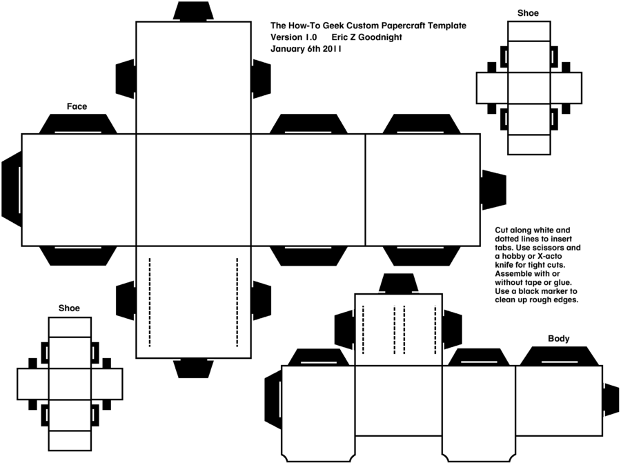 Papercraft Template  Printables And Adult Coloring Pages