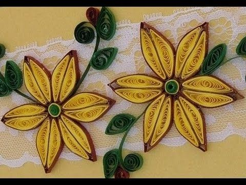 Quilling made easy how to make yellow brown flower design using quilling made easy how to make yellow brown flower design using paper art quilling mightylinksfo