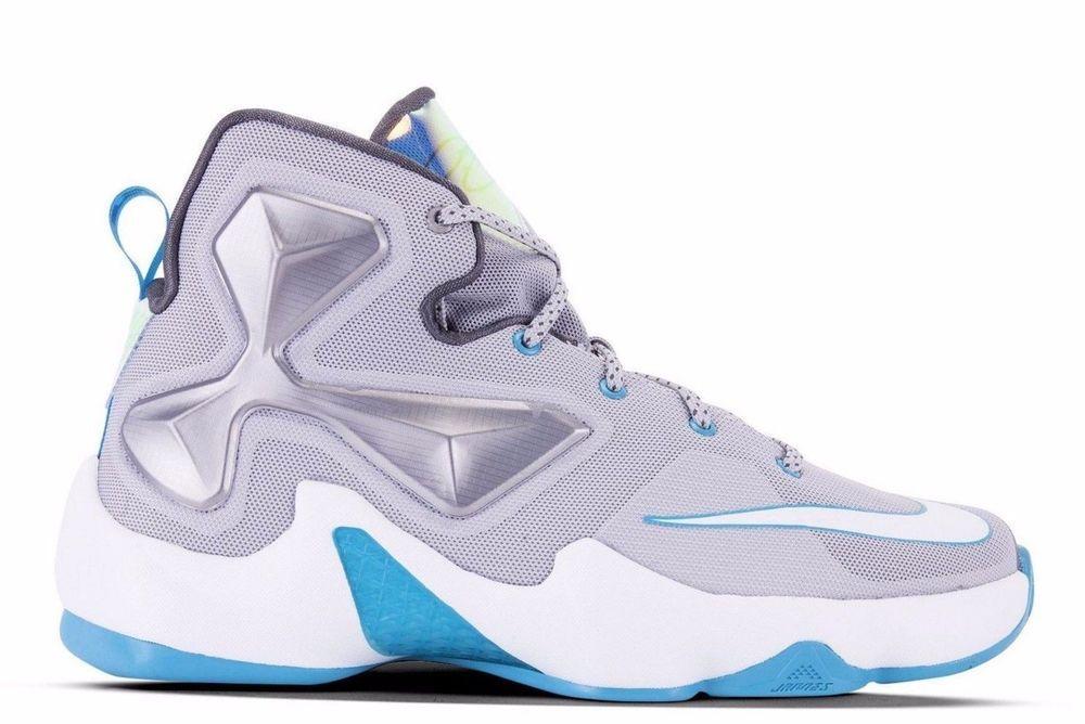 NEW NIKE LEBRON XIII 13 HOLOGRAM Womens 8 (6.5Y) Wolf Grey Blue Lagoon  Limited  NikeLebron  Athletic 74f22fbb44