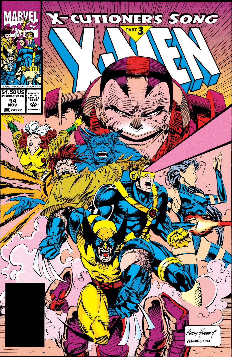X Men 14 Fingers On The Trigger X Cutioner S Song Pt 3 November 1992 Comics Marvel Comics Marvel