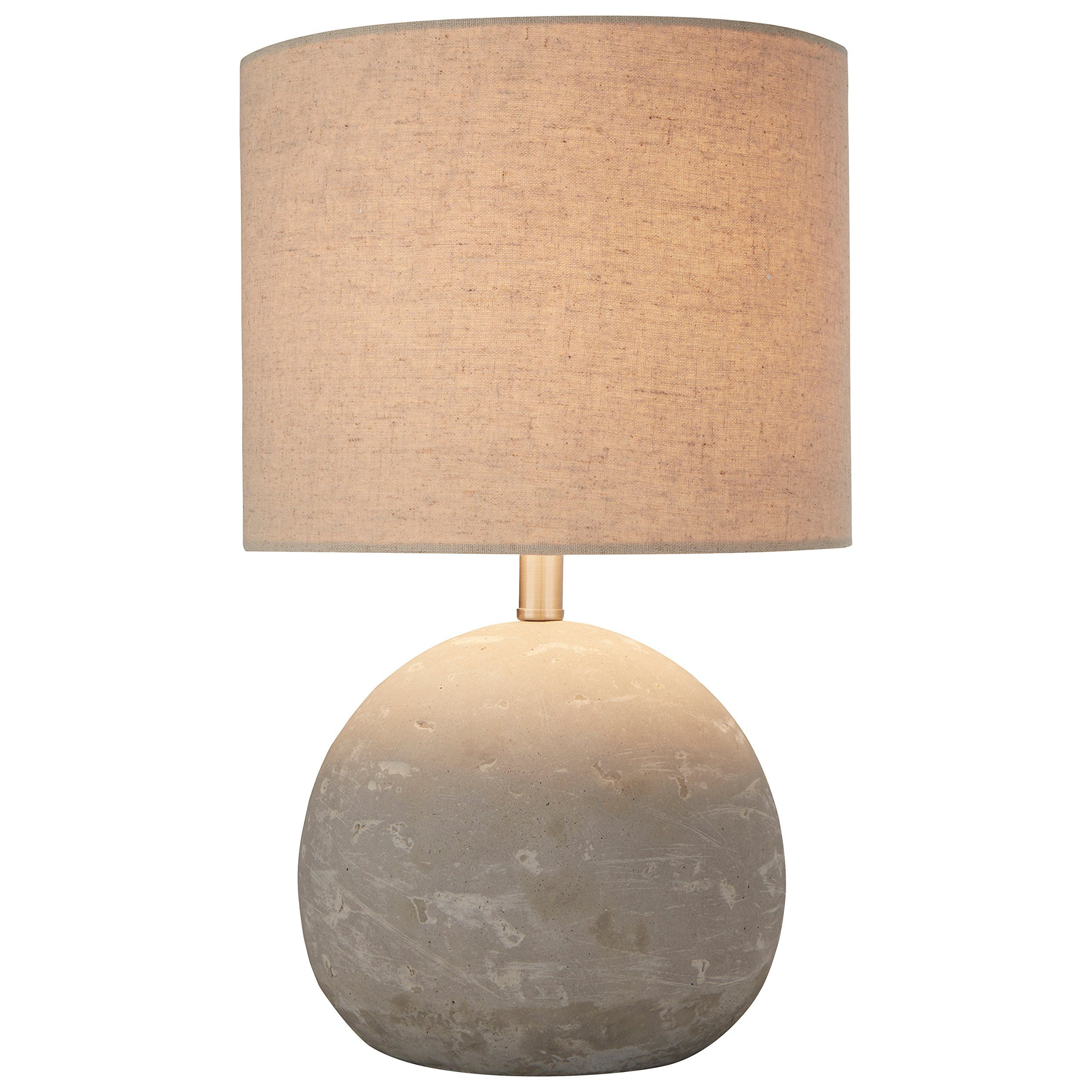 Stone & Beam Industrial Concrete Table Lamp, 16H, With Bulb,