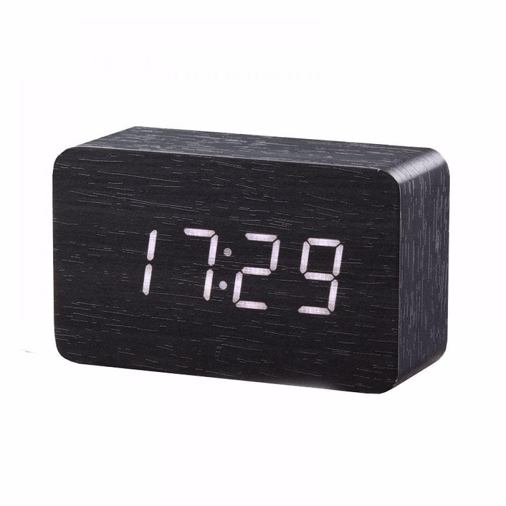Bamboo Wood Led Alarm Clock Price 20 00 Free Shipping Hashtag2