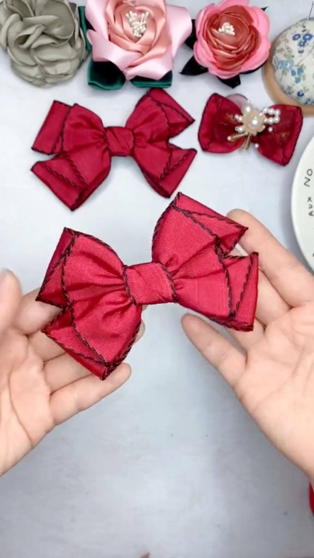 How to make by hand a bow 🎀 hairpin