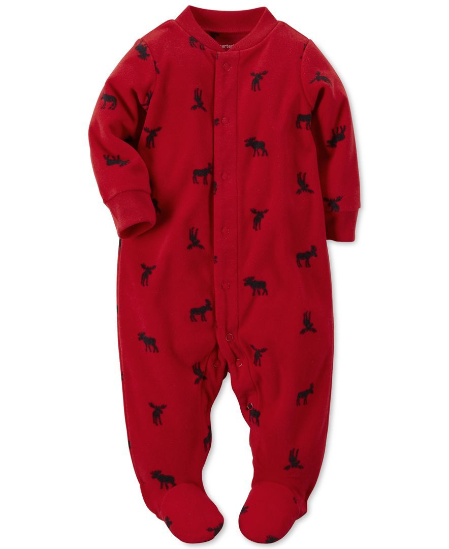 4ccc66cdb251 Carter s Baby Boys  Micro-Fleece Snap-Front Footed Coveralls ...