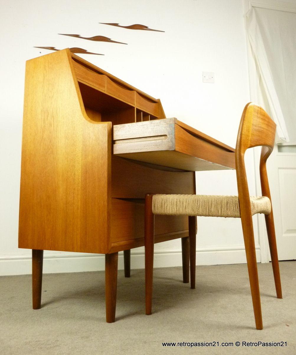 Danish teak dressing table / bureau by Arne Vodder - Mid ...