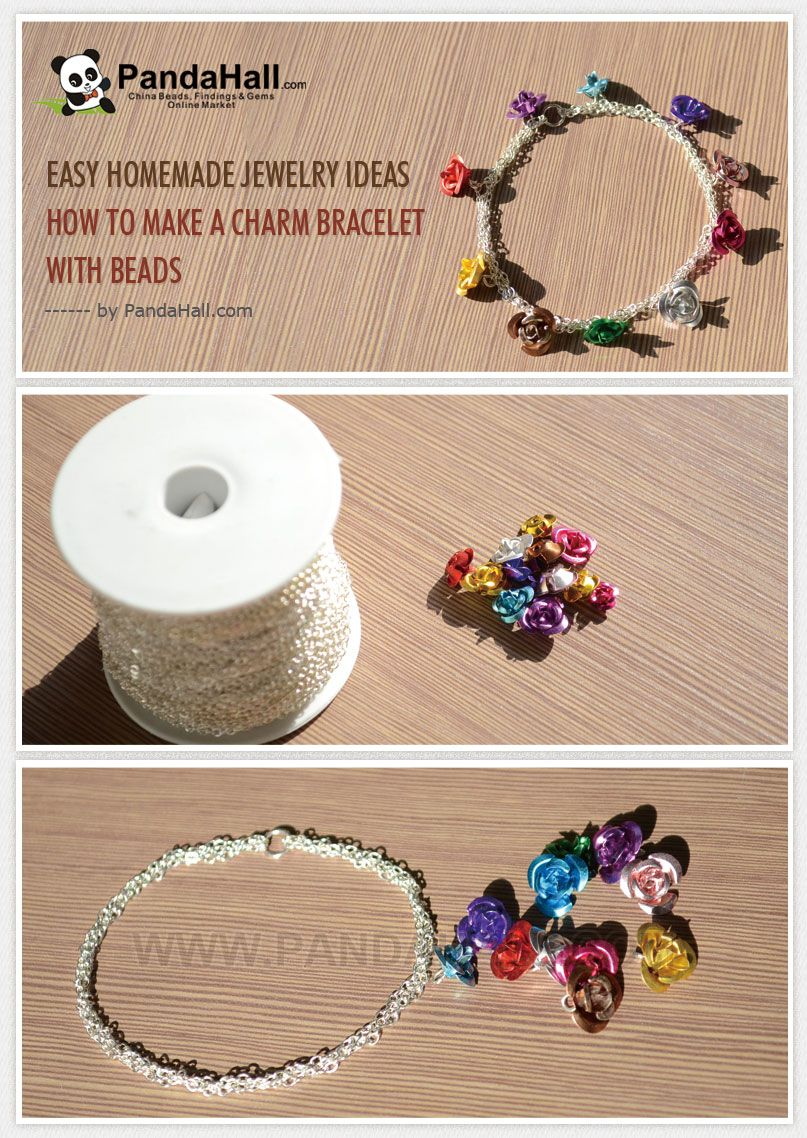 Easy Homemade Jewelry Ideas – How to Make a Charm Bracelet with ...