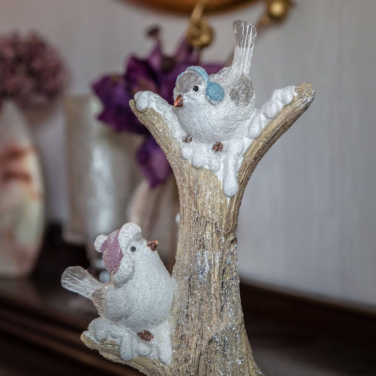 Vogel Paar Auf Stamm Winter Weihnachtsdekoration Tierfigur Hohe 34cm Objekt Deko Ideen Dekoartikel Dekoration Weihnachtsdekoration Weihnachtsdeko Deko
