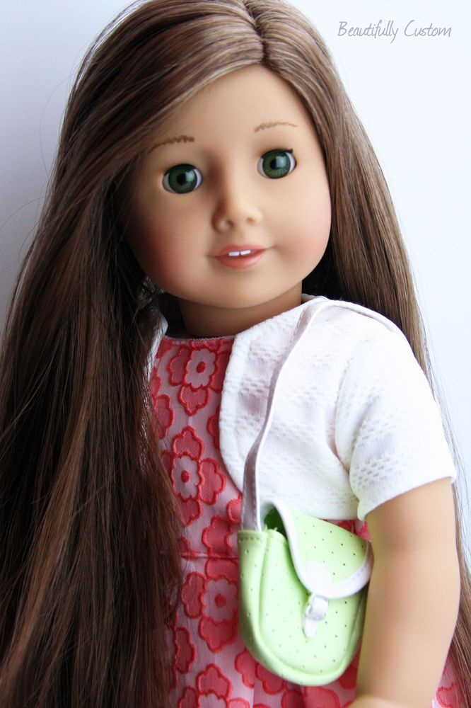 61 W Mg Wig Caramel Brown Hair American Girl American Girl Doll