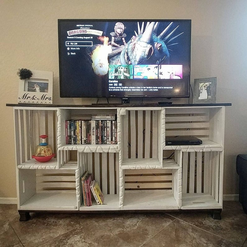 Farmhouse Crate TV Stand LOCAL PICKUP only | Etsy