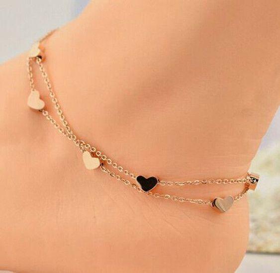 925 Filled Stars Ankle Bracelet Beautiful