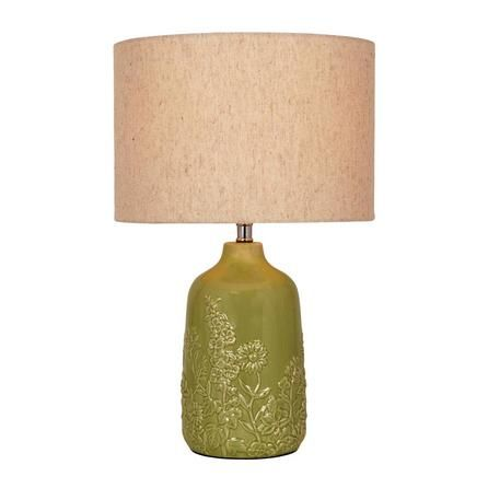 Meadow Embossed Bottle Table Lamp Dunelm Bottle Table