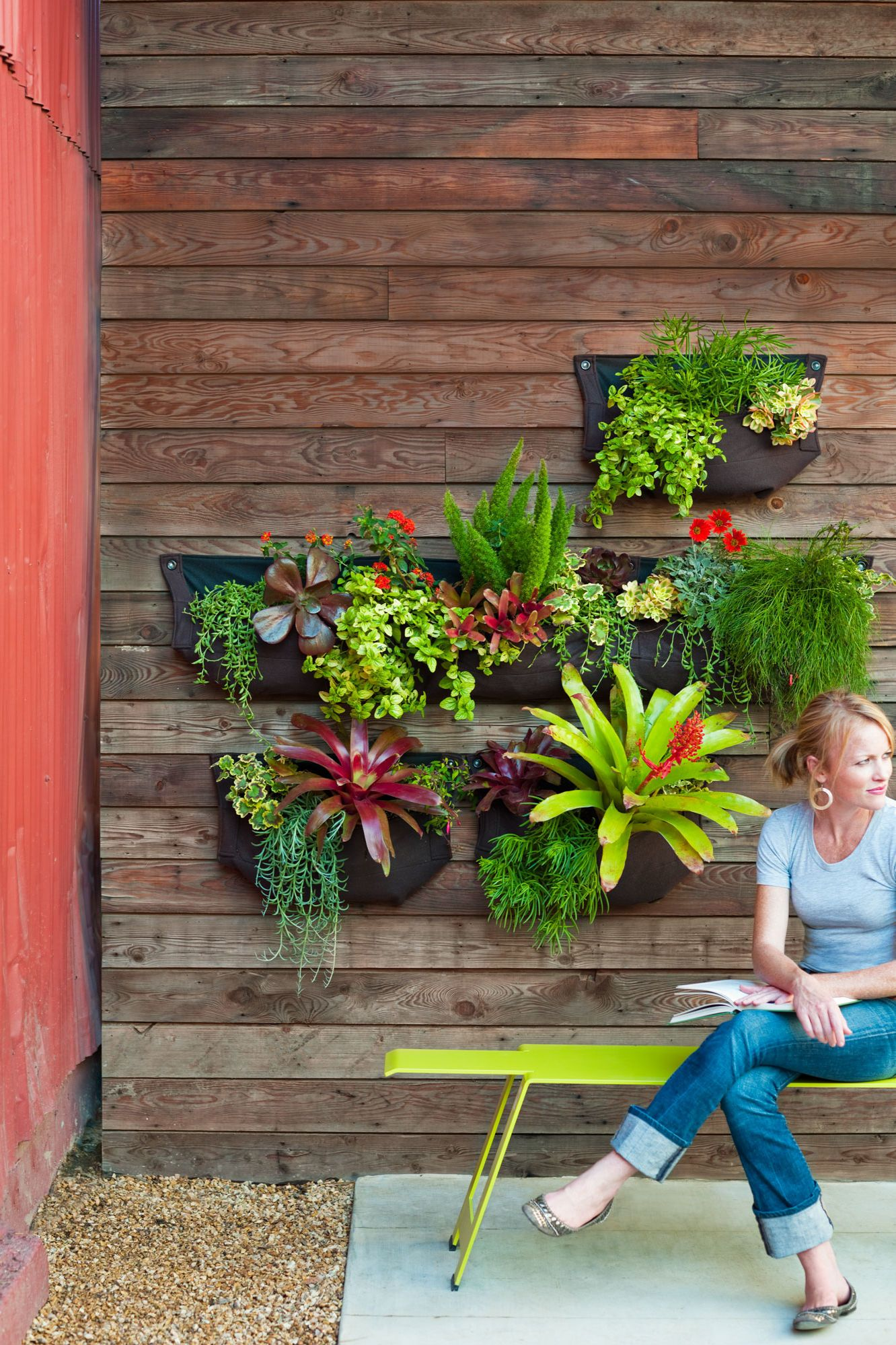 How To Make A Hanging Garden Vertical Succulent Gardens Diy Garden Projects Garden Projects