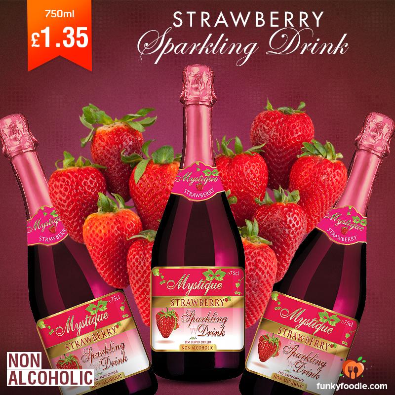 Mystique Strawberry Sparkling Drink Mystique is a non