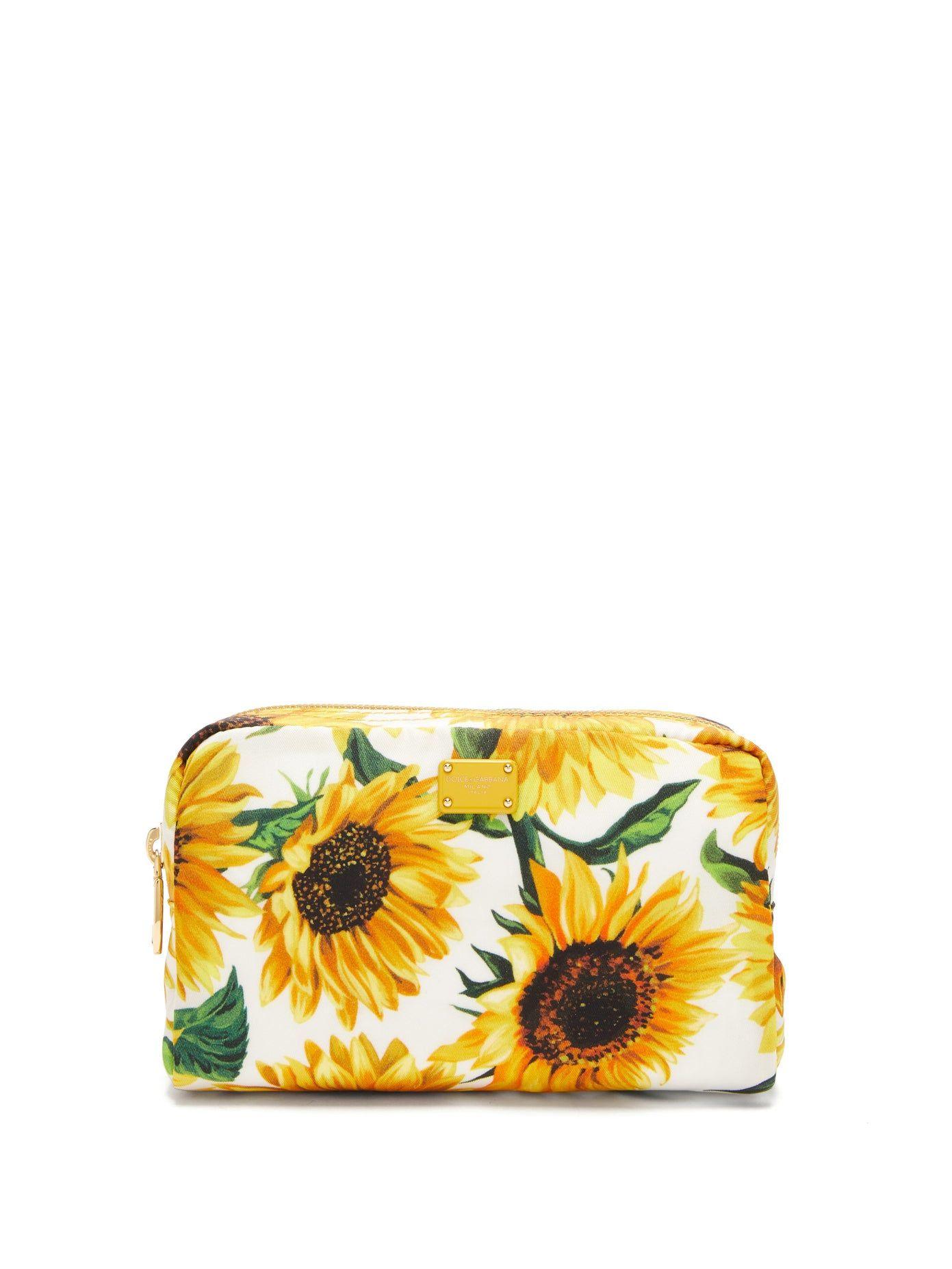 Sunflowerprint cosmetic case Dolce & Gabbana DG bags