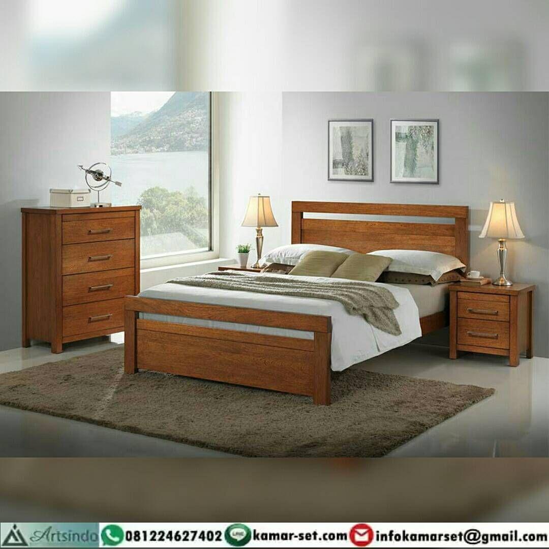 Tempat tidur retro minimalis simple kayu jati | Set Kamar Tidur ...