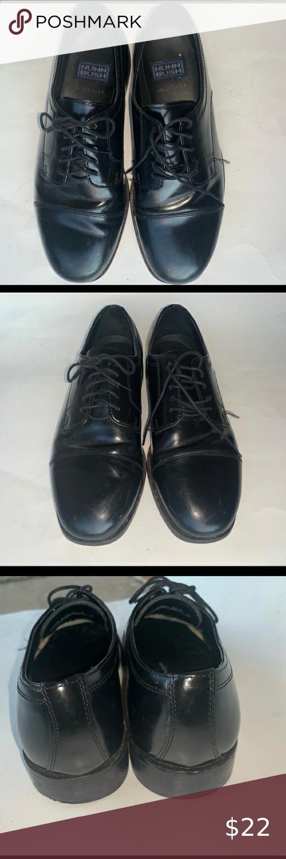 Nunn Bush Black Dress Shoes 8size In Excellent Condition Black Dress Shoes For Men Mad Mens Brown Leather Shoes Leather Oxford Shoes Black Leather Shoes [ 1740 x 580 Pixel ]