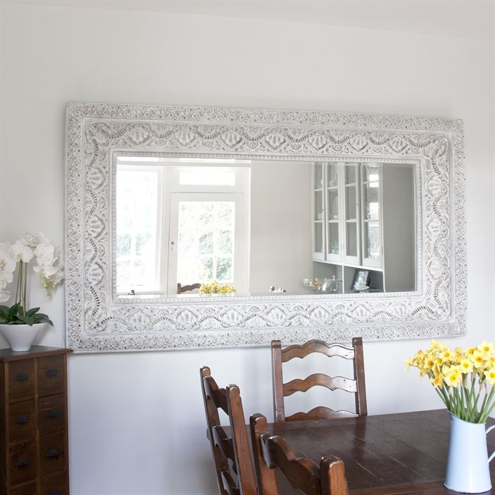 Mirror Large Decorative Mirrors With Tables And Chairs Also Flower Glamorous Decorative Mirrors Dining Room Review