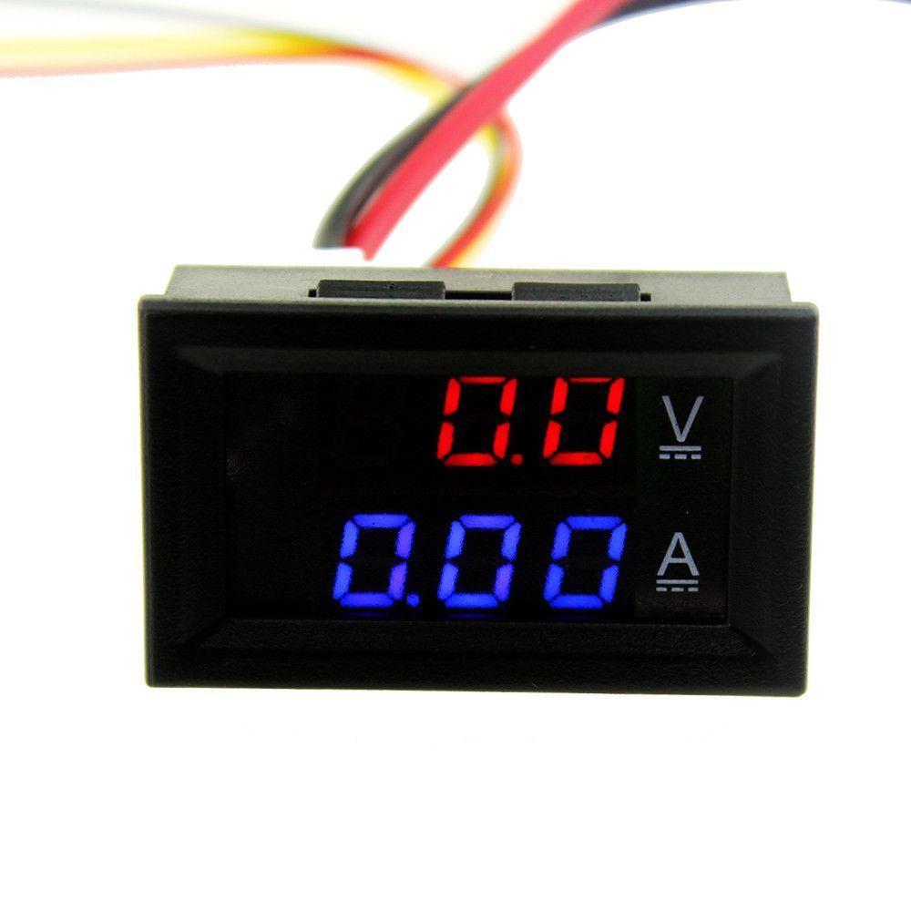 1pcs Top Quality Dc 100v 10a Voltmeter Ammeter Blue Red Led Amp Popular Digital Multimeter Circuit Tester With Dual Volt