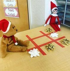 Tic tac toe - Elf on the Shelf ideas #lutindenoel