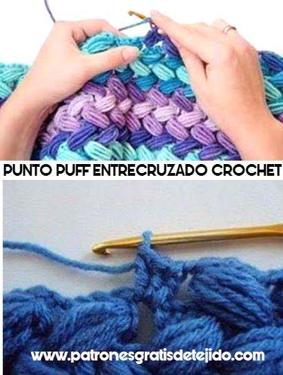Punto puff entrecruzado a crochet | Tejidos para invierno (Gorros ...