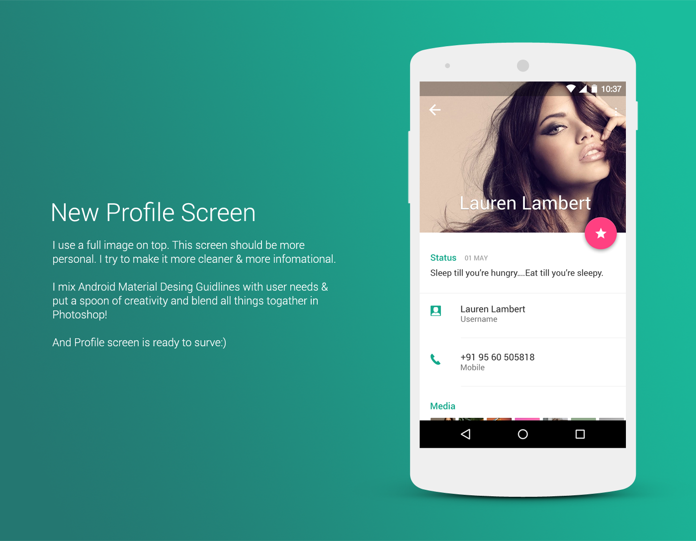 WhatsApp - Material Design Concept on Behance