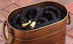 Groupon - DAP XHose Pro Incredible Xpanding 75-Foot Hose with Solid Brass Fittings in [missing {{location}} value]. Groupon deal price: $36.99