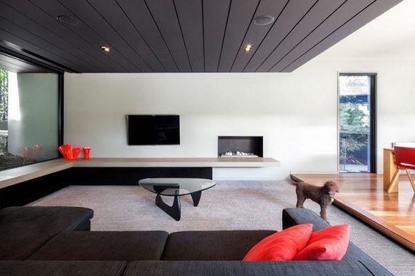Moderne Wohnzimmer Dekoration Ideen - Farbe, Möbel und Leuchten