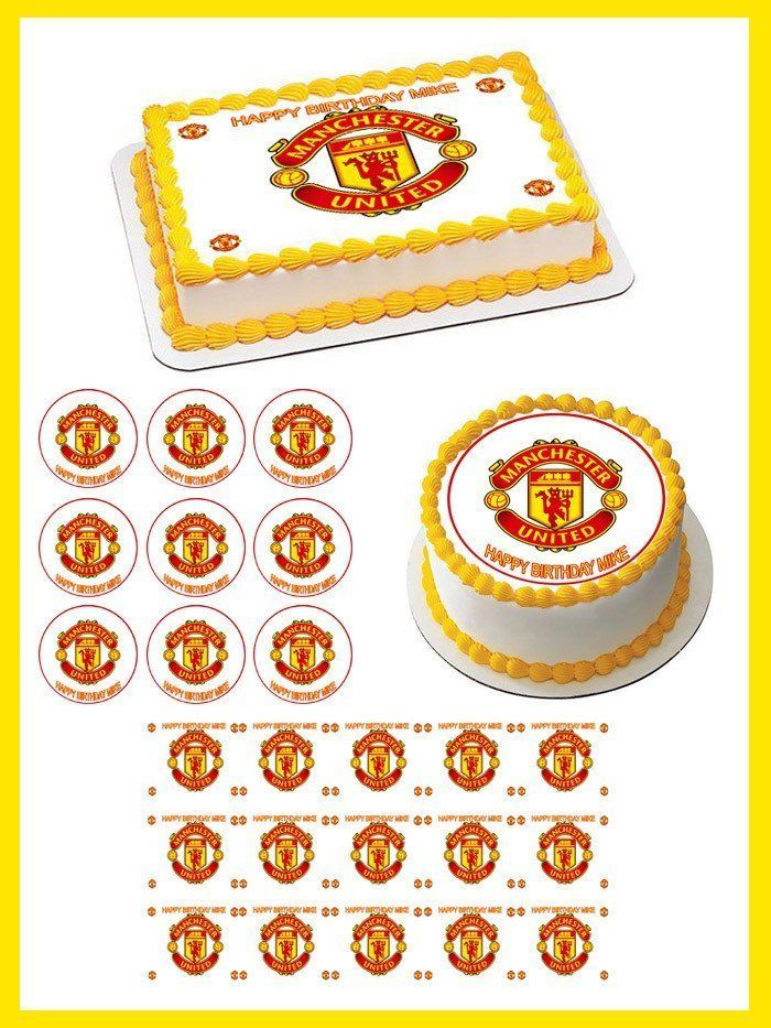 Manchester United Edible Cake Topper Or Cupcake Topper Decor Ebay Birthday Cake Toppers Edible Cake Toppers Cake Toppers