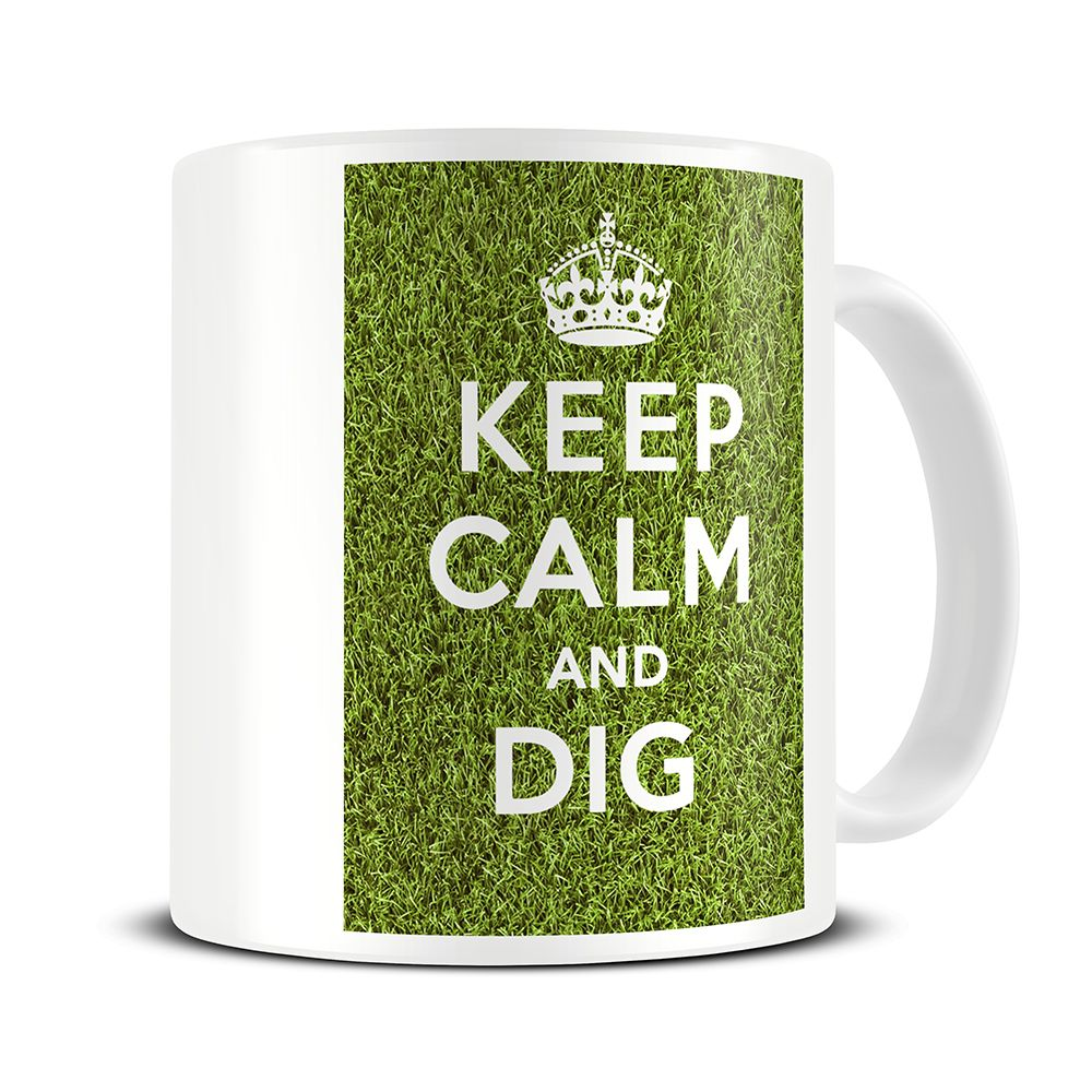MG150 Magoo Keep Calm And Dig Gardener Mug U2013 Gardening Gifts