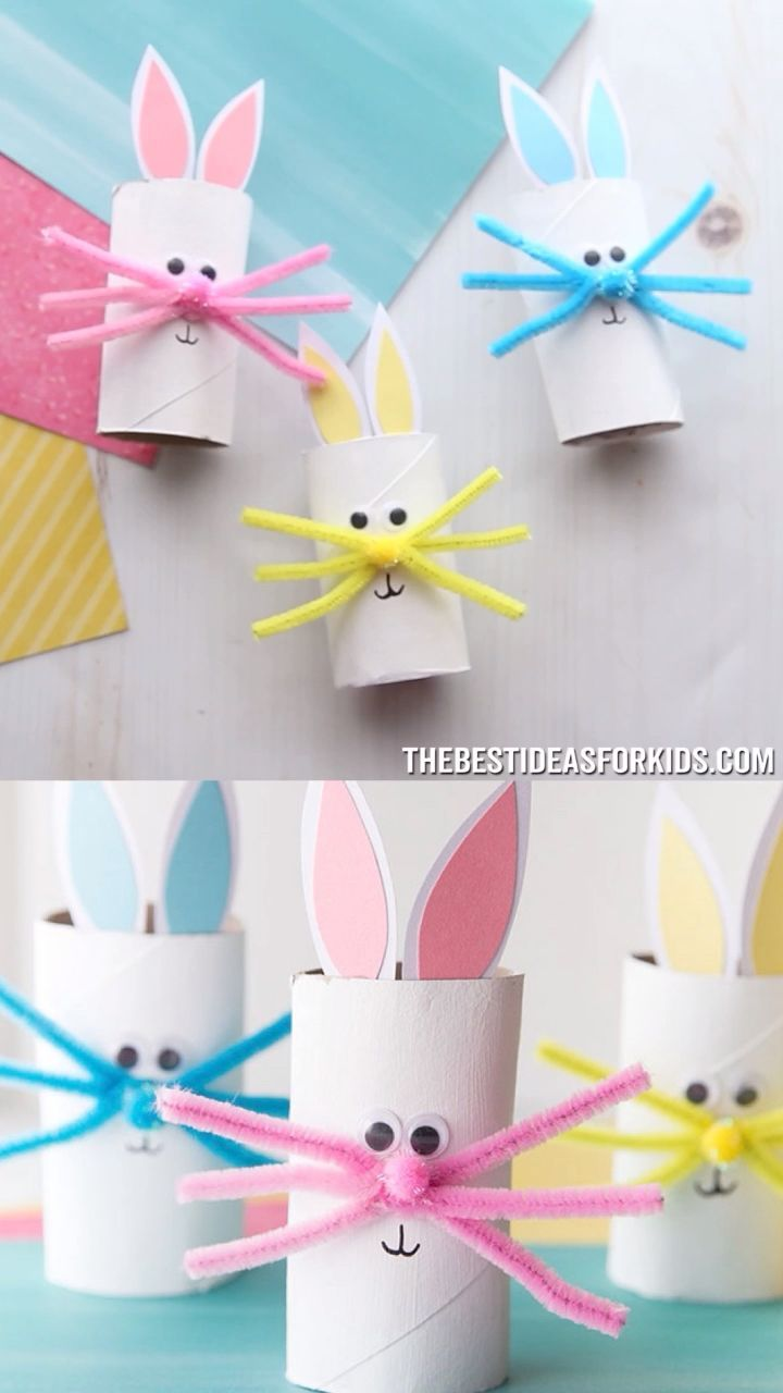 Basteln Ostern Joghurtbecher Toilet Paper Roll Bunny Bunny Cute Paper Roll