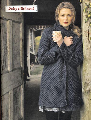 c2a6f5355d1b Pattern Knitting Debbie Bliss Alpaca Silk Aran Daisy Stitch Coat at ...