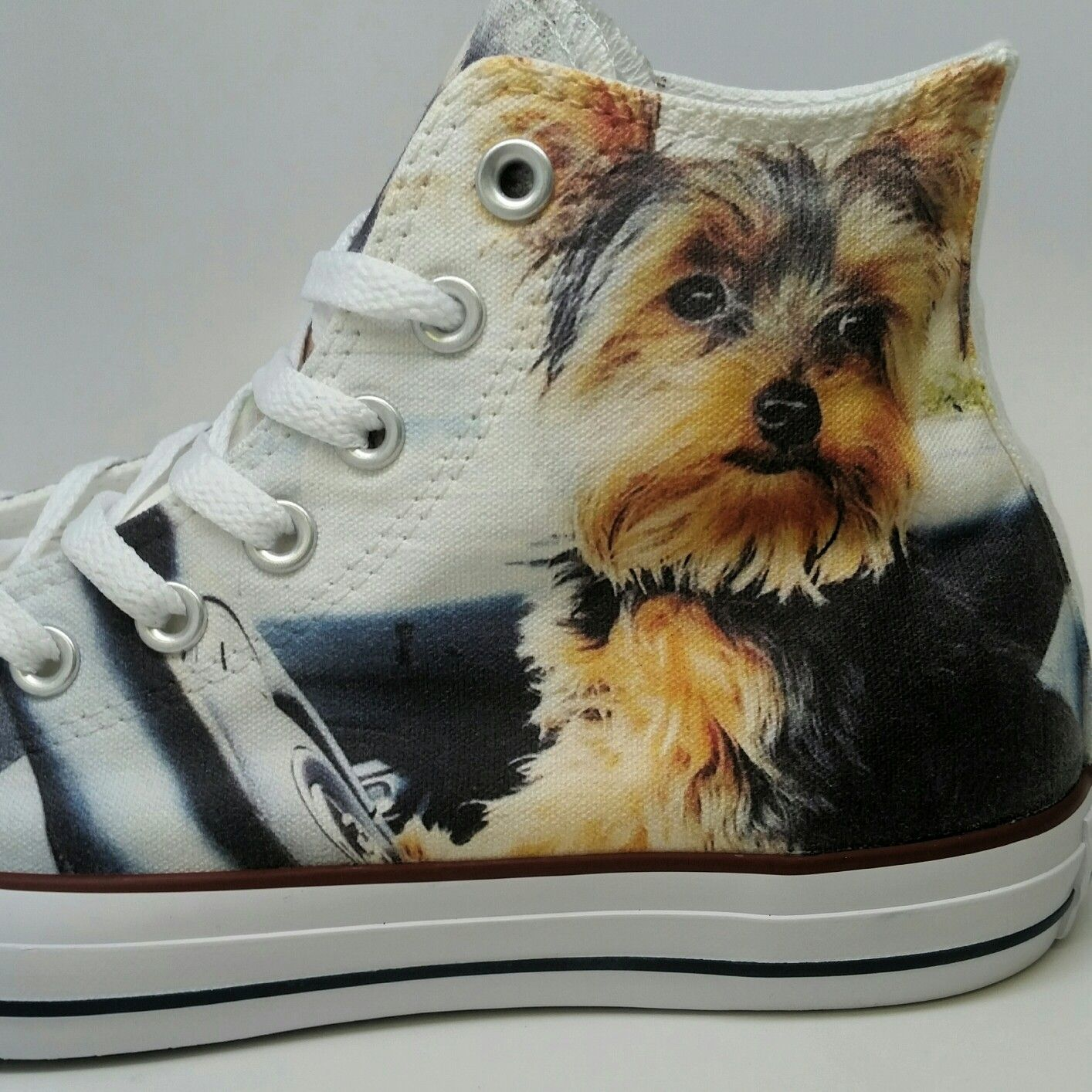 Custom Converse Yorkie Print Chuck Taylors Send Us A Pic Of Your