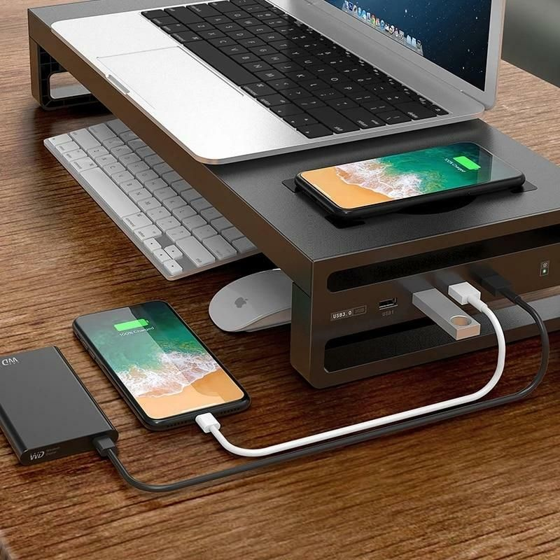 Multifunctional Wireless Charging Desktop Monitor Stand gifts presents