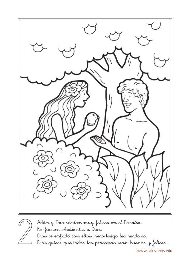 www.salesianos.edu 2 Adán y Eva vivían muy felices en el Paraíso. No ...