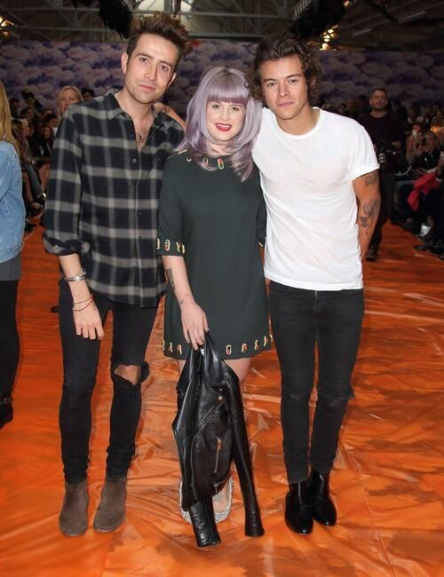 Harry, Grimmy, and Kelly at the Henry Holland's fashion show!