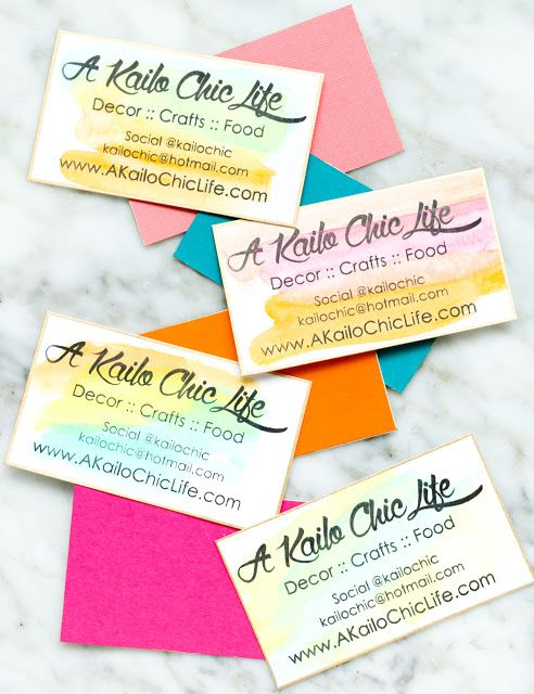 Diy it watercolor business cards criativo diy it watercolor business cards a kailo chic life reheart Images